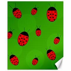 Ladybugs Canvas 16  X 20   by Valentinaart