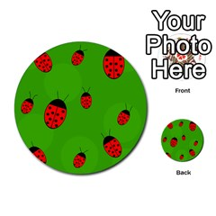 Ladybugs Multi Purpose Cards (round)  by Valentinaart