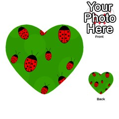 Ladybugs Multi Purpose Cards (heart)  by Valentinaart