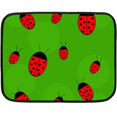 Ladybugs Fleece Blanket (mini) by Valentinaart
