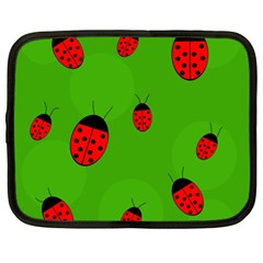 Ladybugs Netbook Case (xl)  by Valentinaart