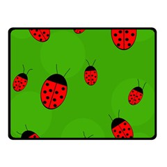 Ladybugs Fleece Blanket (small) by Valentinaart