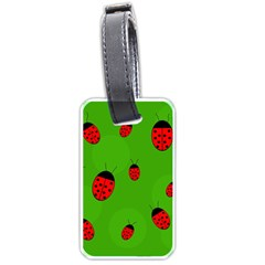 Ladybugs Luggage Tags (two Sides) by Valentinaart