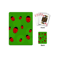 Ladybugs Playing Cards (mini)  by Valentinaart