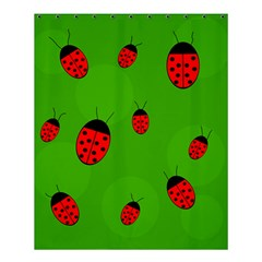 Ladybugs Shower Curtain 60  X 72  (medium)  by Valentinaart