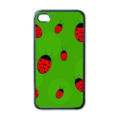 Ladybugs Apple Iphone 4 Case (black) by Valentinaart