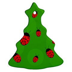 Ladybugs Ornament (christmas Tree) by Valentinaart
