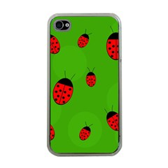 Ladybugs Apple Iphone 4 Case (clear) by Valentinaart
