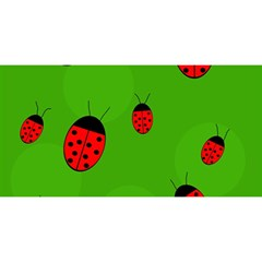 Ladybugs You Are Invited 3d Greeting Card (8x4)  by Valentinaart