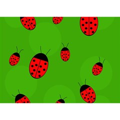 Ladybugs Birthday Cake 3d Greeting Card (7x5)  by Valentinaart