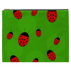 Ladybugs Cosmetic Bag (xxxl)  by Valentinaart