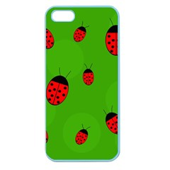 Ladybugs Apple Seamless Iphone 5 Case (color) by Valentinaart