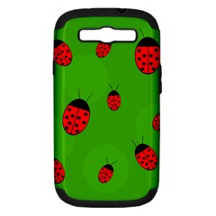 Ladybugs Samsung Galaxy S Iii Hardshell Case (pc+silicone) by Valentinaart