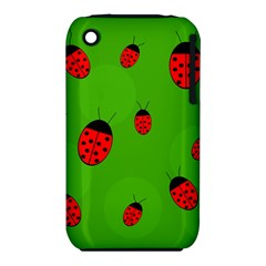 Ladybugs Apple Iphone 3g/3gs Hardshell Case (pc+silicone) by Valentinaart