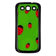 Ladybugs Samsung Galaxy S3 Back Case (black) by Valentinaart