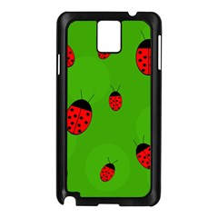 Ladybugs Samsung Galaxy Note 3 N9005 Case (black) by Valentinaart