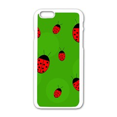 Ladybugs Apple Iphone 6/6s White Enamel Case by Valentinaart