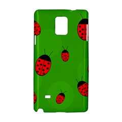 Ladybugs Samsung Galaxy Note 4 Hardshell Case by Valentinaart