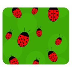 Ladybugs Double Sided Flano Blanket (small)  by Valentinaart