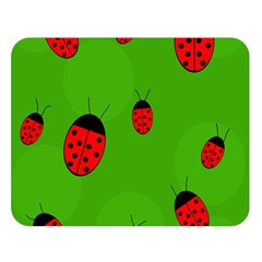 Ladybugs Double Sided Flano Blanket (large)  by Valentinaart