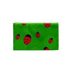 Ladybugs Cosmetic Bag (xs) by Valentinaart