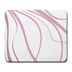 Pink Elegant Lines Large Mousepads by Valentinaart