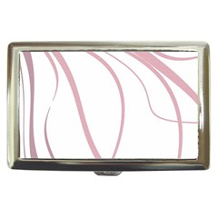 Pink Elegant Lines Cigarette Money Cases by Valentinaart