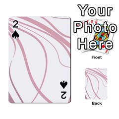 Pink Elegant Lines Playing Cards 54 Designs  by Valentinaart