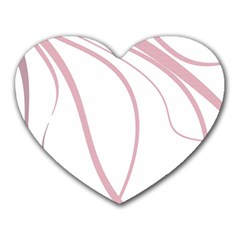 Pink Elegant Lines Heart Mousepads by Valentinaart