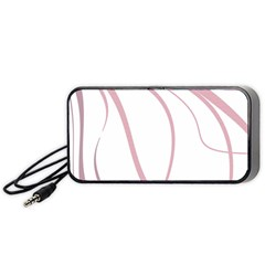 Pink Elegant Lines Portable Speaker (black)  by Valentinaart