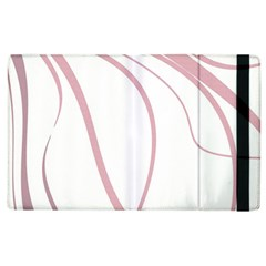 Pink Elegant Lines Apple Ipad 2 Flip Case by Valentinaart