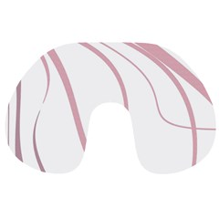 Pink Elegant Lines Travel Neck Pillows by Valentinaart
