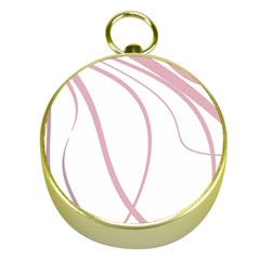 Pink Elegant Lines Gold Compasses by Valentinaart