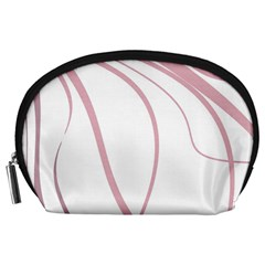 Pink Elegant Lines Accessory Pouches (large)  by Valentinaart