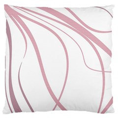 Pink Elegant Lines Large Flano Cushion Case (one Side) by Valentinaart