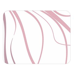 Pink Elegant Lines Double Sided Flano Blanket (large)  by Valentinaart