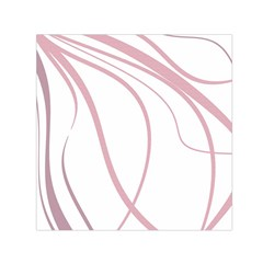 Pink Elegant Lines Small Satin Scarf (square) by Valentinaart