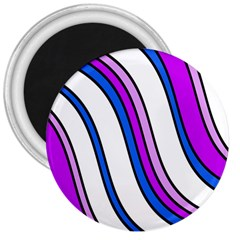 Purple Lines 3  Magnets by Valentinaart