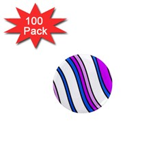 Purple Lines 1  Mini Magnets (100 Pack)  by Valentinaart