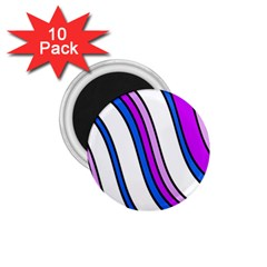 Purple Lines 1 75  Magnets (10 Pack)  by Valentinaart