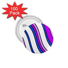Purple Lines 1 75  Buttons (100 Pack)  by Valentinaart