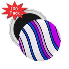 Purple Lines 2 25  Magnets (100 Pack)  by Valentinaart