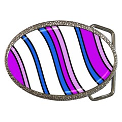 Purple Lines Belt Buckles by Valentinaart