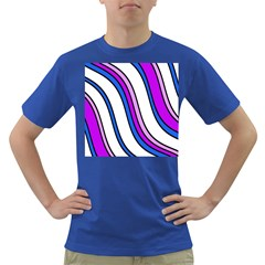 Purple Lines Dark T Shirt by Valentinaart