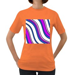 Purple Lines Women s Dark T Shirt by Valentinaart