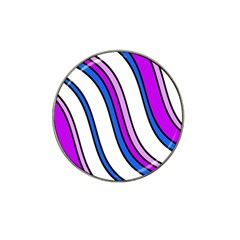 Purple Lines Hat Clip Ball Marker by Valentinaart