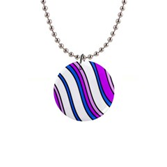 Purple Lines Button Necklaces by Valentinaart