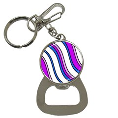 Purple Lines Bottle Opener Key Chains by Valentinaart