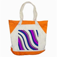 Purple Lines Accent Tote Bag by Valentinaart