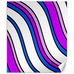 Purple Lines Canvas 8  X 10  by Valentinaart